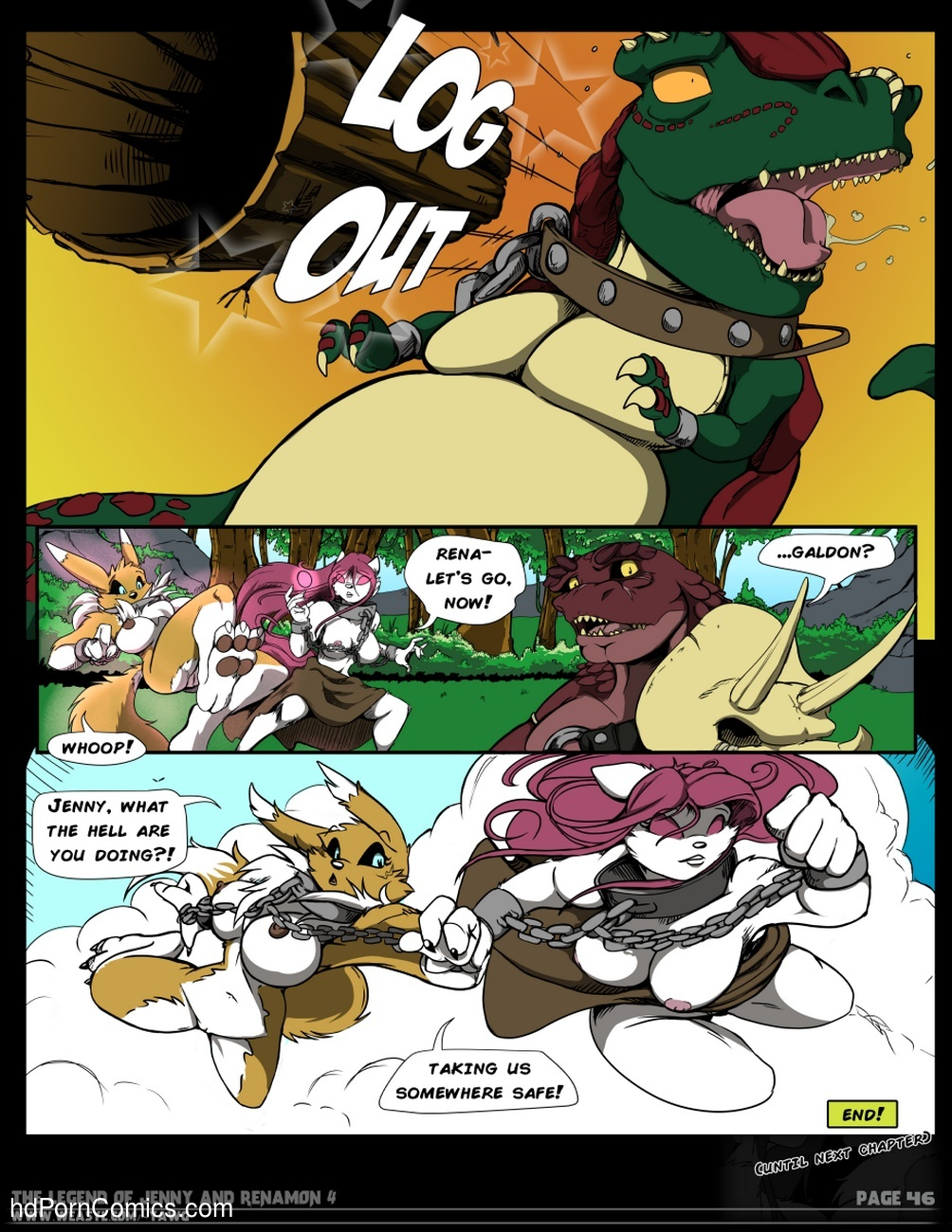 The Legend Of Jenny And Renamon 4 Sex Comic