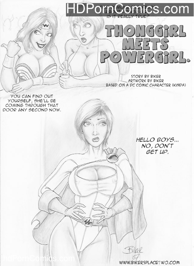 Thong Girl Meets Power Girl Sex Comic
