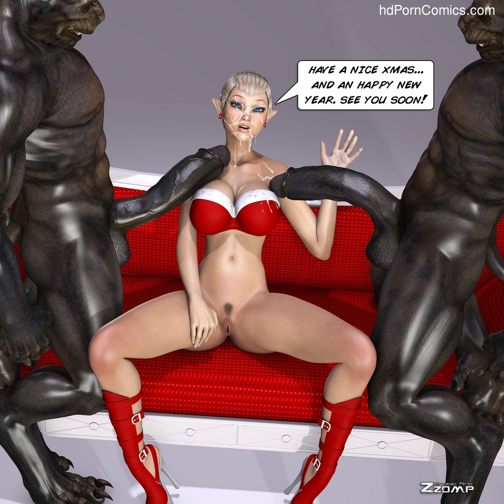 Tihanna Meets Warewolves For Xmas Sex Comic