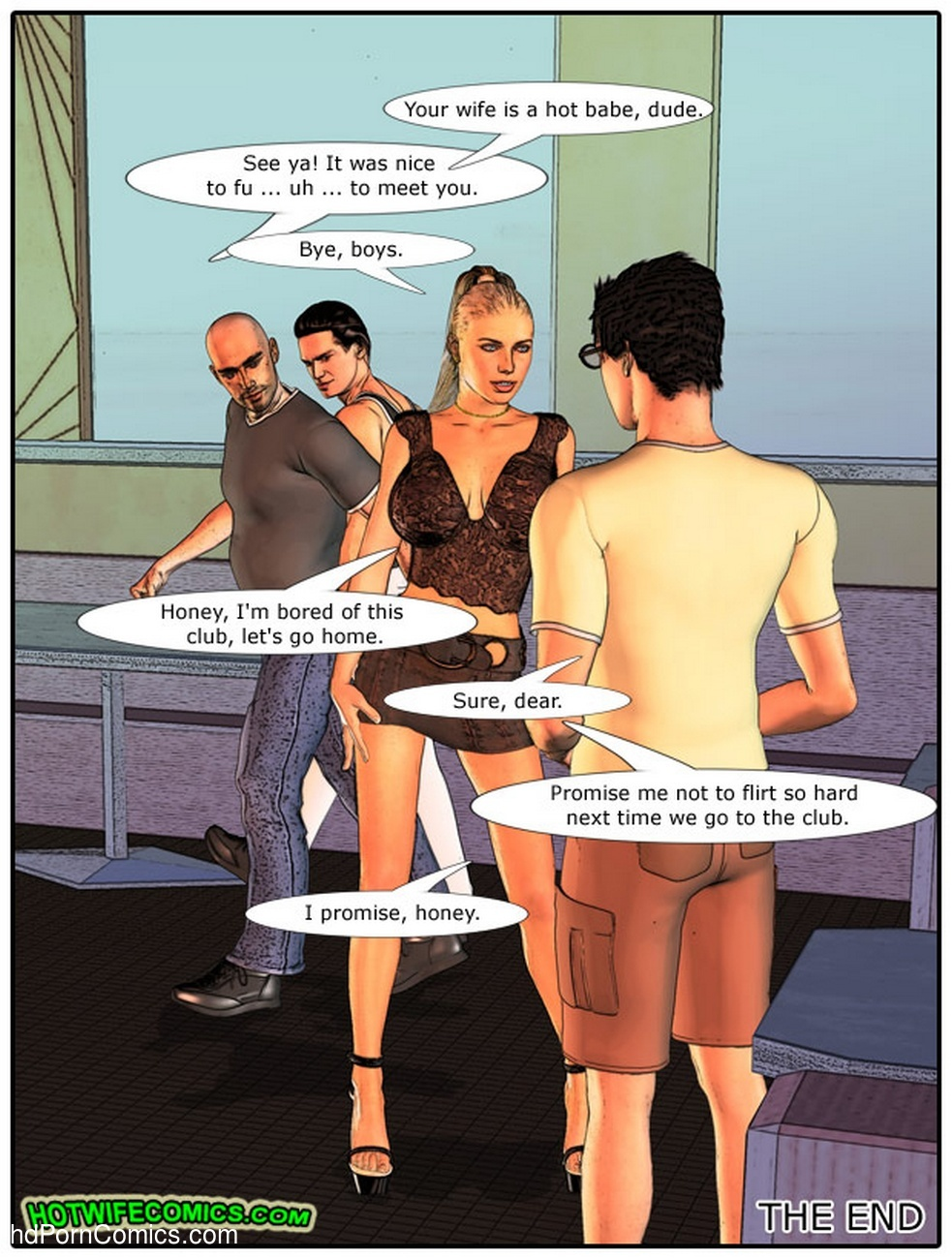 Wife At The Club Sex Comic