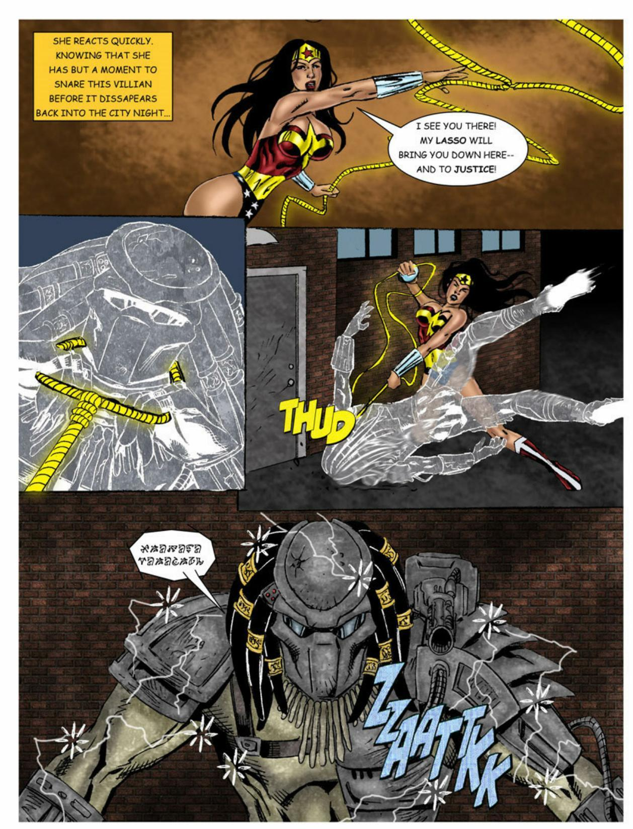 Wonder Woman vs Predator – Part 1-313 free sex comic