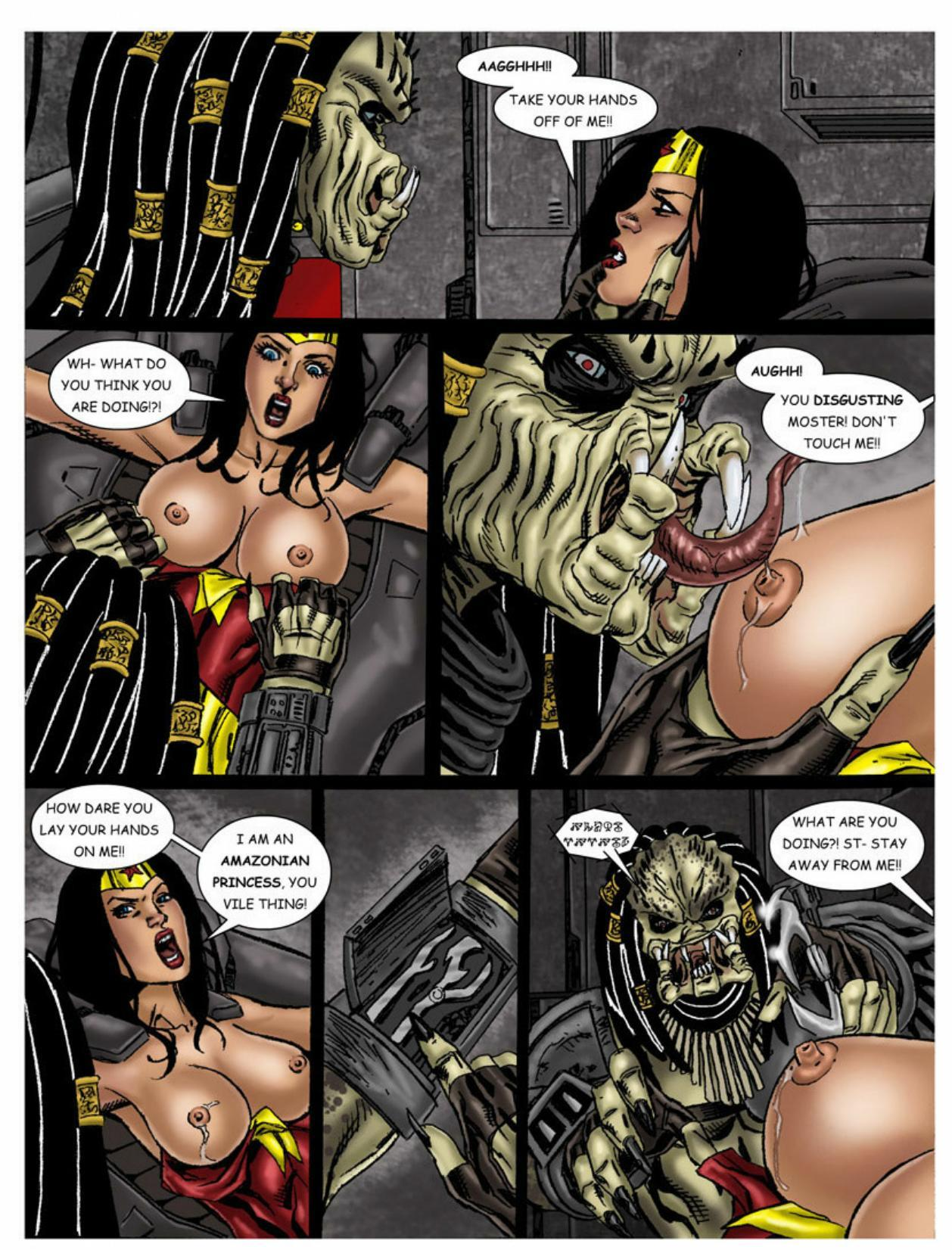 Wonder Woman vs Predator – Part 1-317 free sex comic