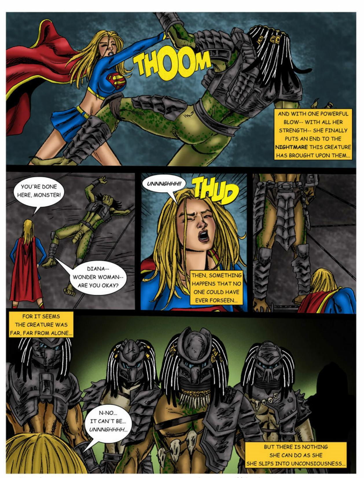 Wonder Woman vs Predator – Part 1-374 free sex comic