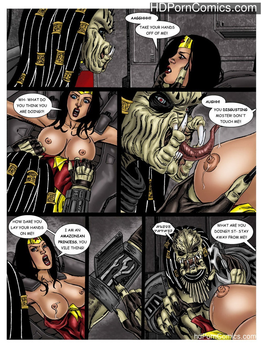 Wonder Woman - In The Clutches Of The Predator 1 11 free sex comic