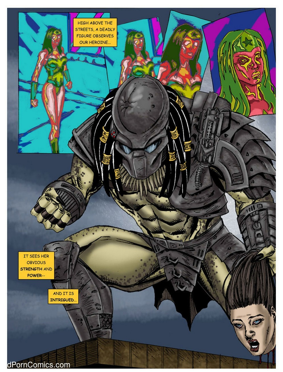 Wonder Woman - In The Clutches Of The Predator 1 4 free sex comic