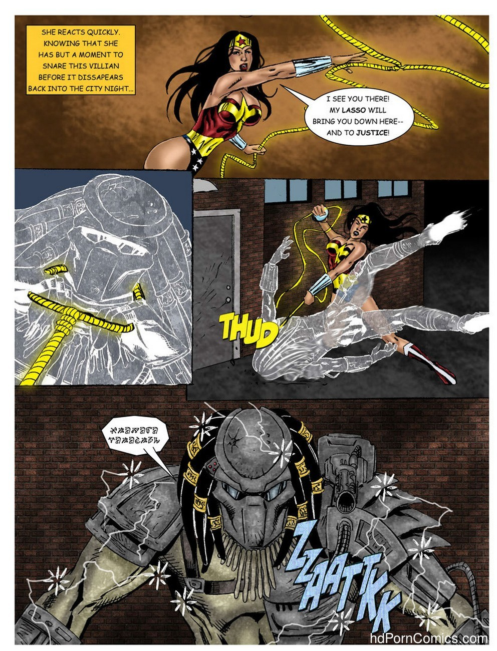 Wonder Woman - In The Clutches Of The Predator 1 8 free sex comic