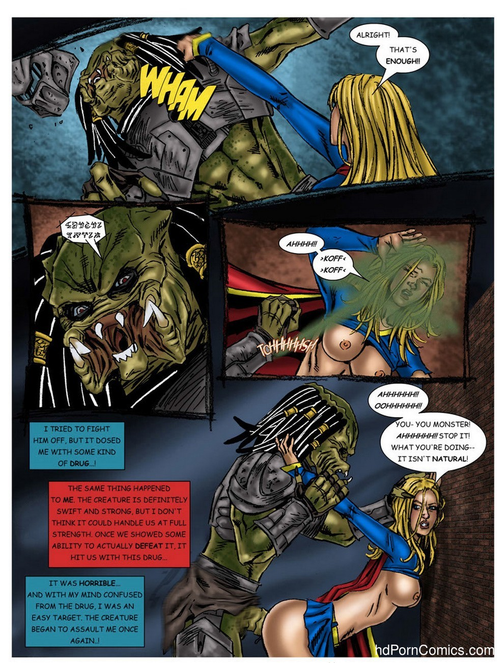 Wonder Woman - In The Clutches Of The Predator 2 18 free sex comic