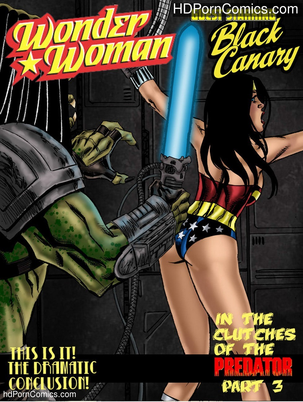 Wonder Woman – In The Clutches Of The Predator 3 Sex Comic