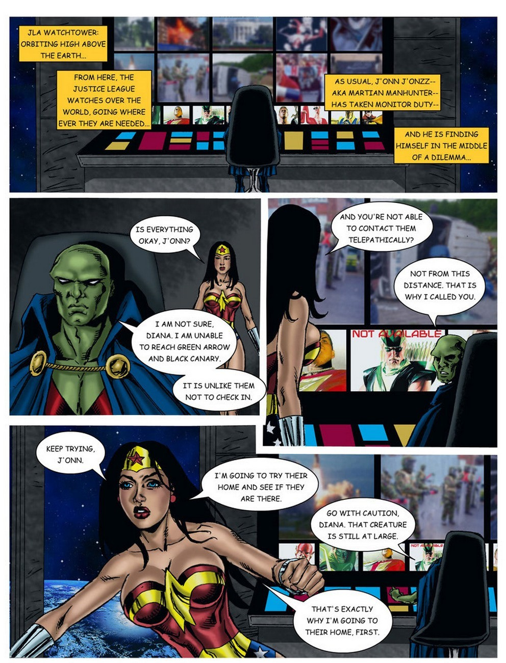 Wonder Woman - In The Clutches Of The Predator 3 12 free sex comic