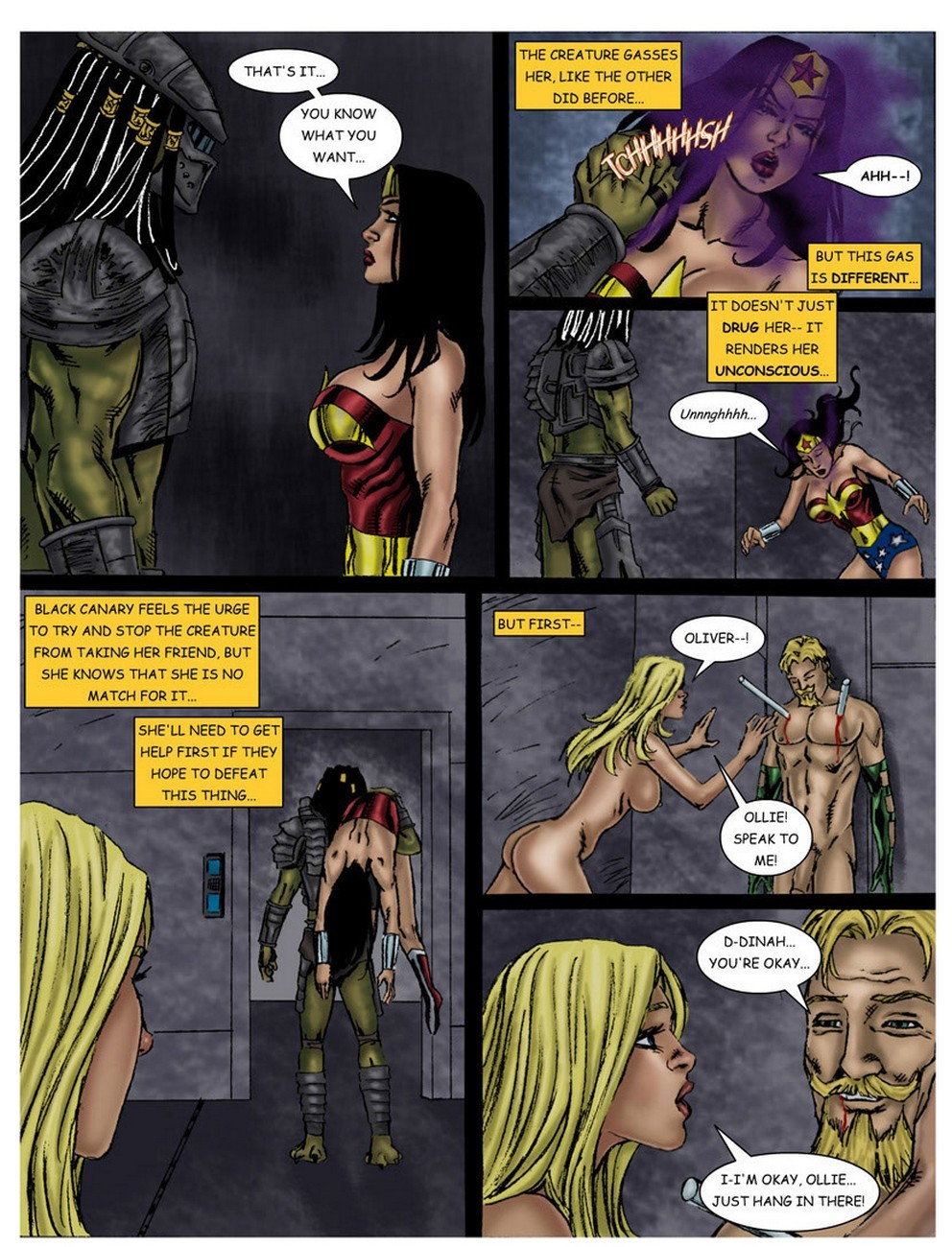 Wonder Woman - In The Clutches Of The Predator 3 15 free sex comic
