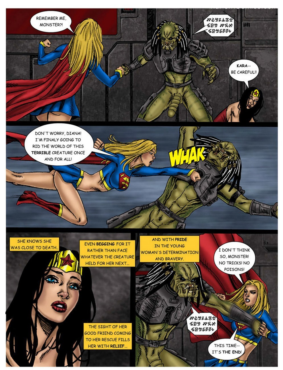Wonder Woman - In The Clutches Of The Predator 3 23 free sex comic