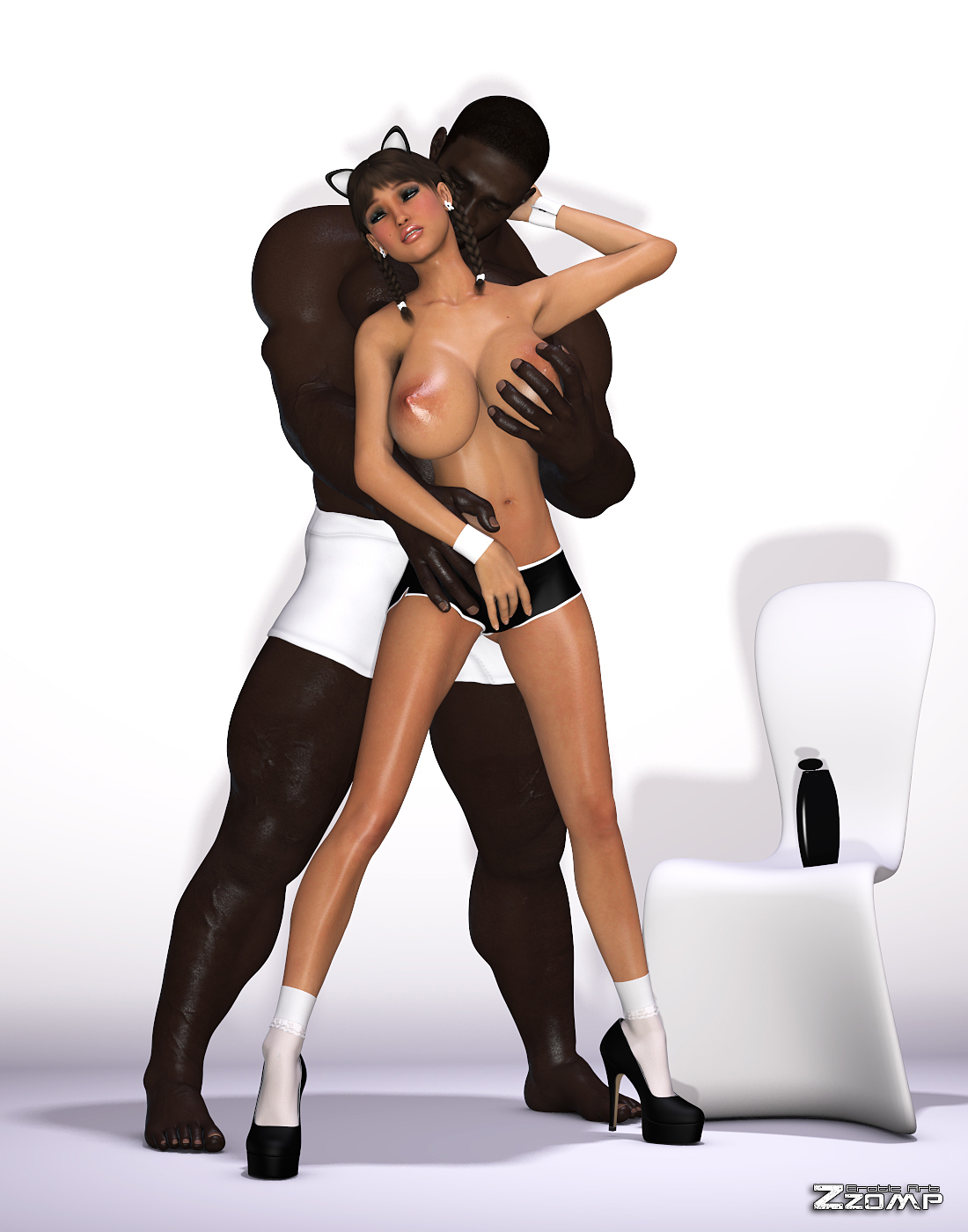 Zzomp – Maria First Interracial Scene2 free sex comic
