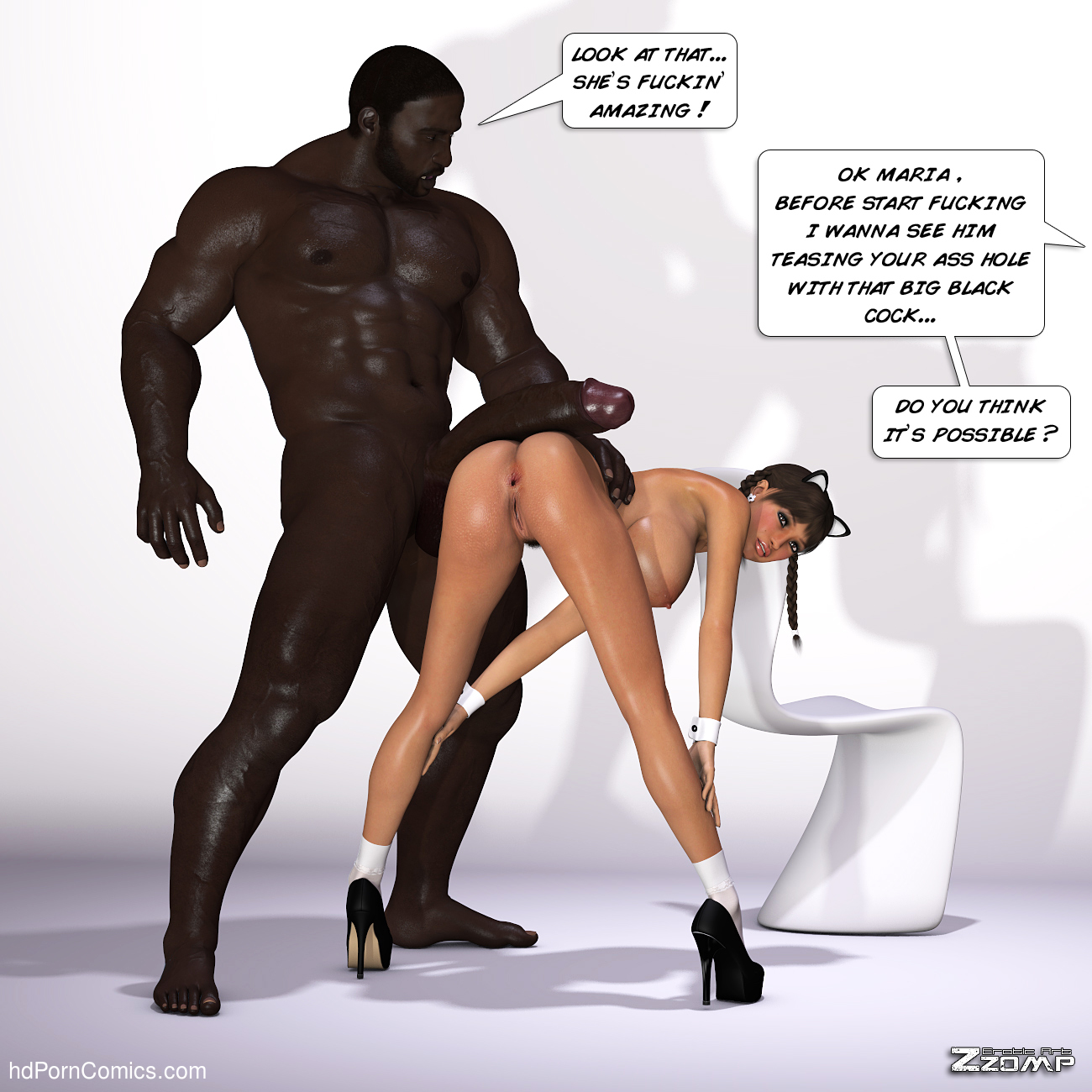 Zzomp – Maria First Interracial Scene22 free sex comic