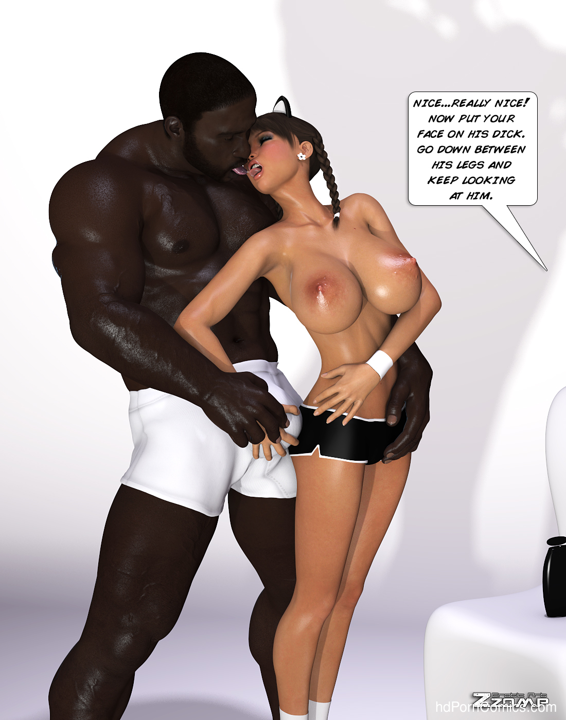 Zzomp – Maria First Interracial Scene7 free sex comic