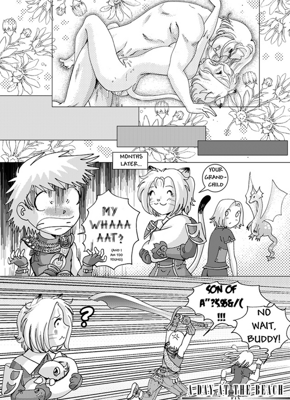 A-Day-At-The-Beach-Final-Fantasy 11 free sex comic