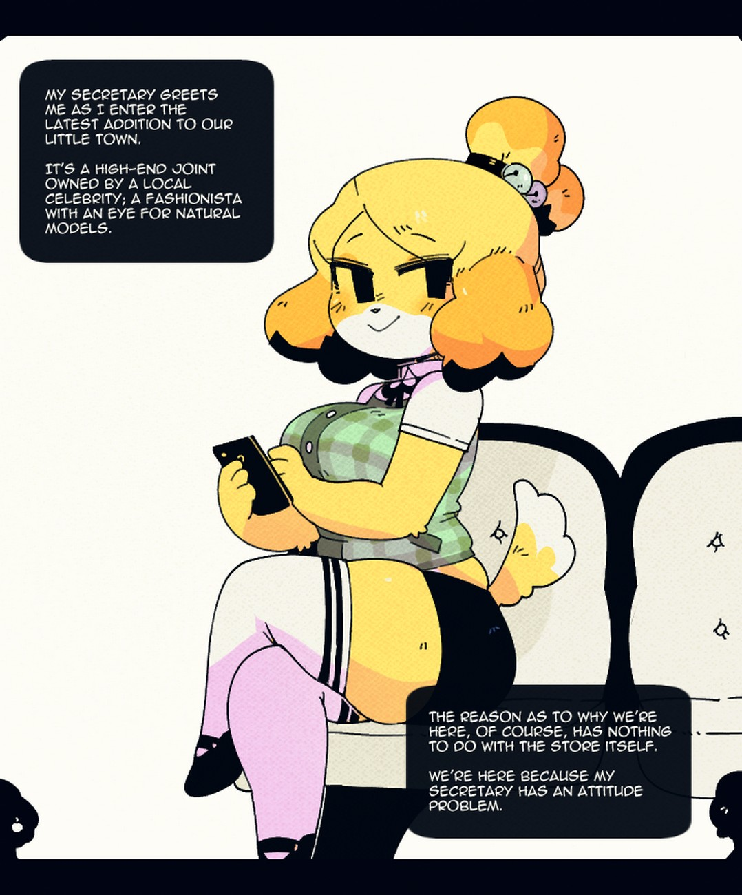 Animal Crossing Porn Ass belle works - secretary edition comic porn - hd porn comics