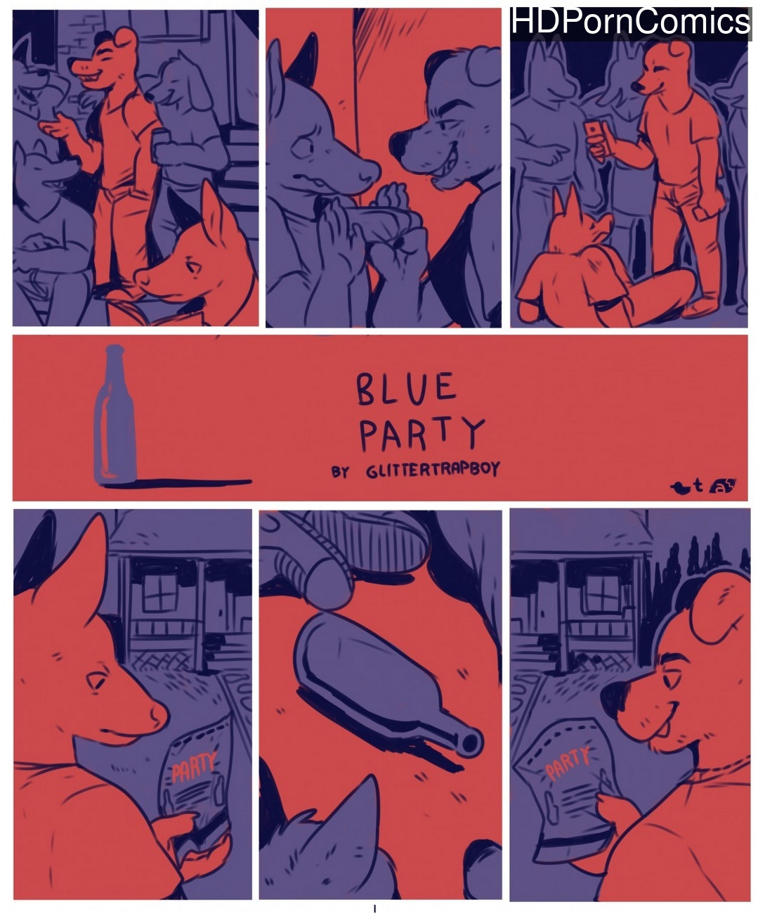Blue-Party 1 free porn comics