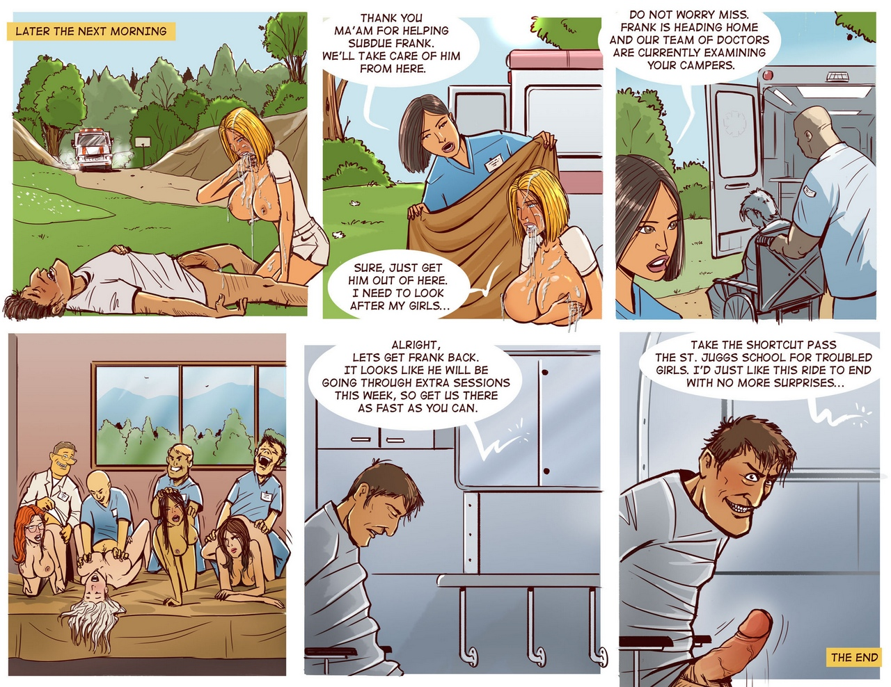 Cheerleader Camp Facefuck Massacre comic porn