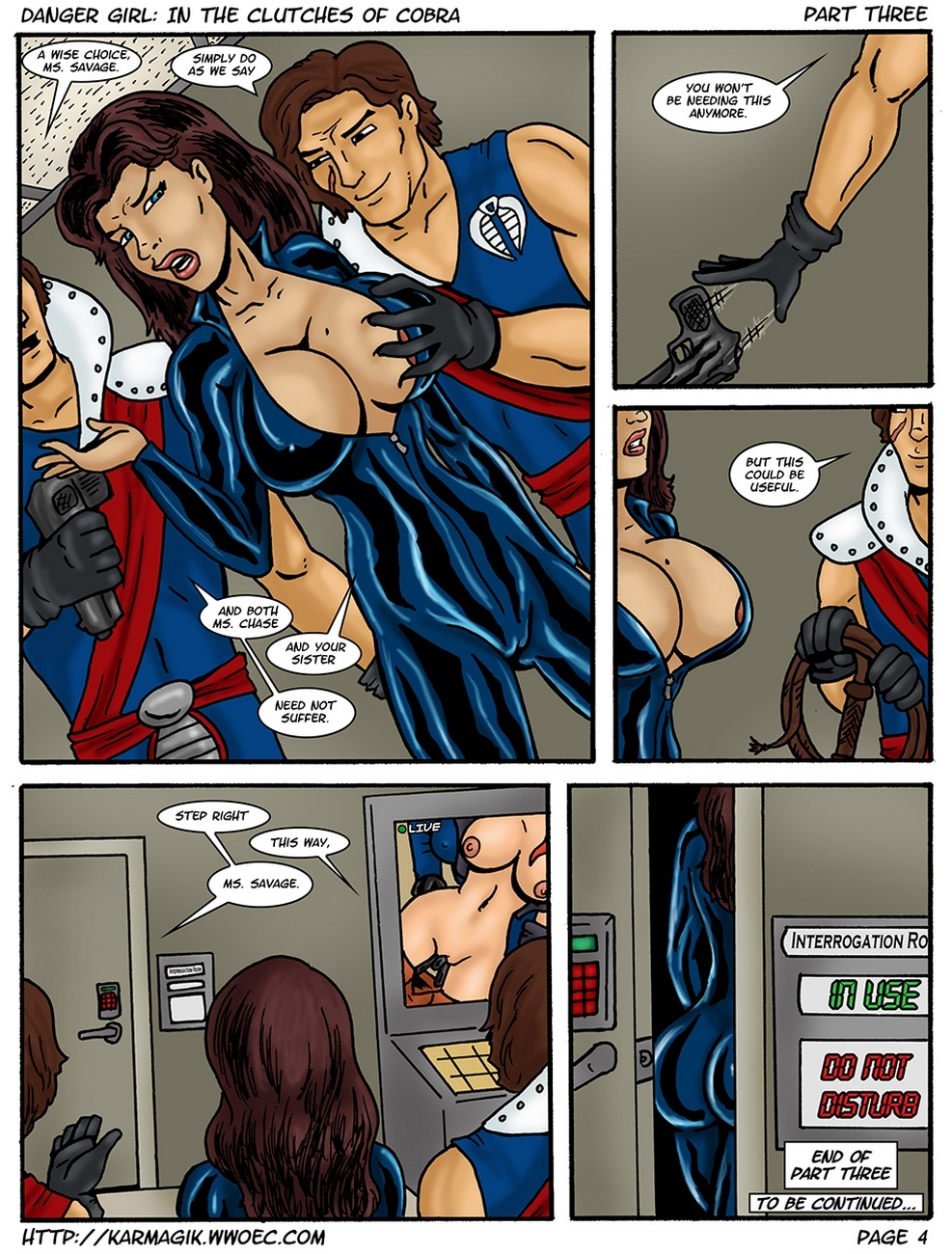 Danger Girl – In The Clutches Of Cobra 3 comic porn