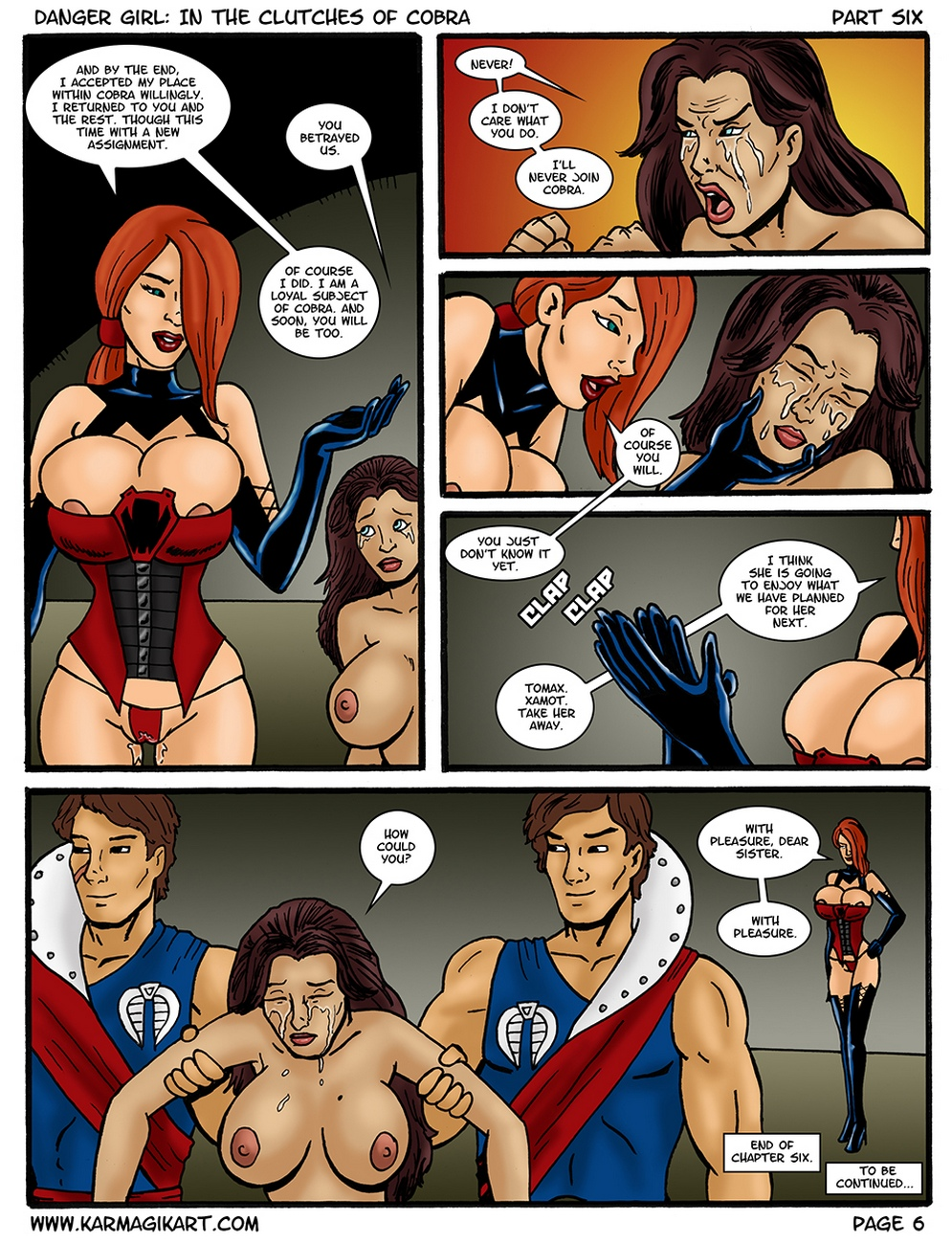 Danger Girl – In The Clutches Of Cobra 6 comic porn