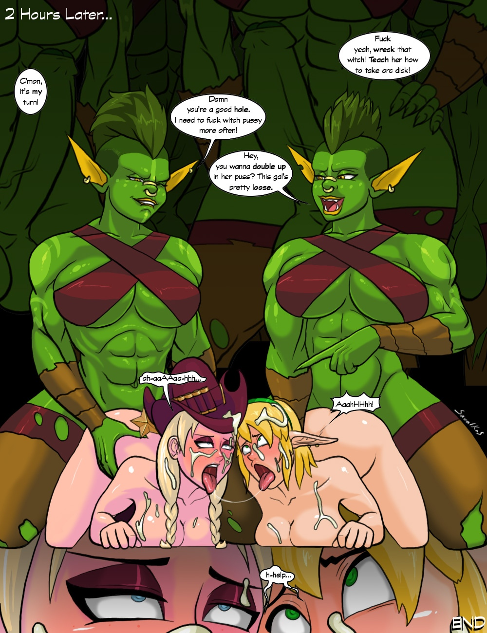 Dungeon Defenders VS Orc Cock comic porn