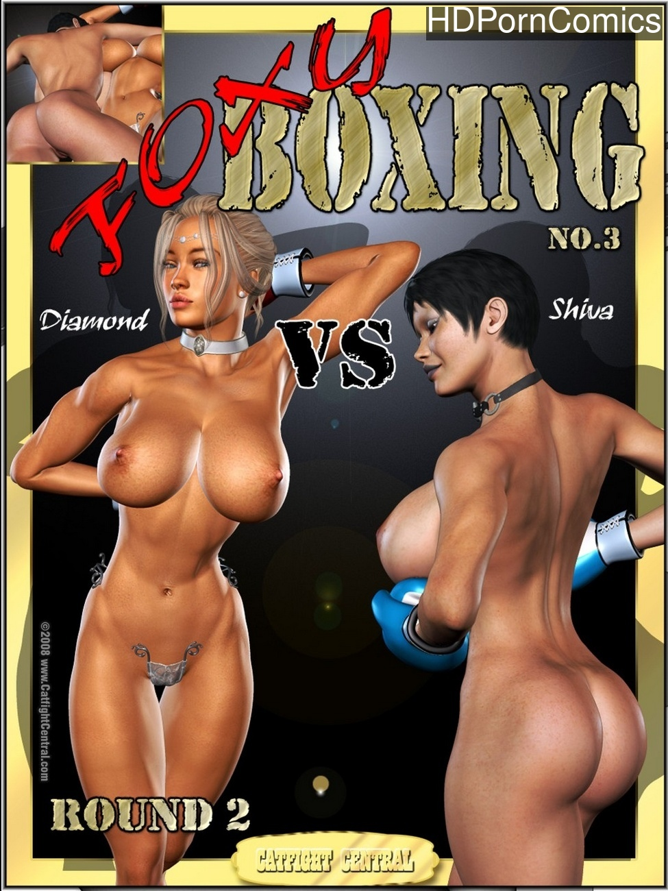 Foxy Boxing 3 – Diamond Vs Shiva – Round 2 comic porn