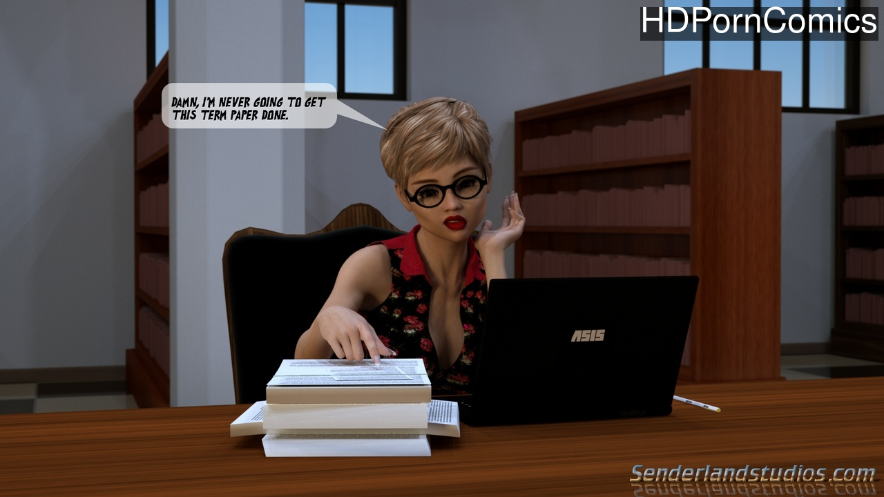 Heather In The Library comic porn