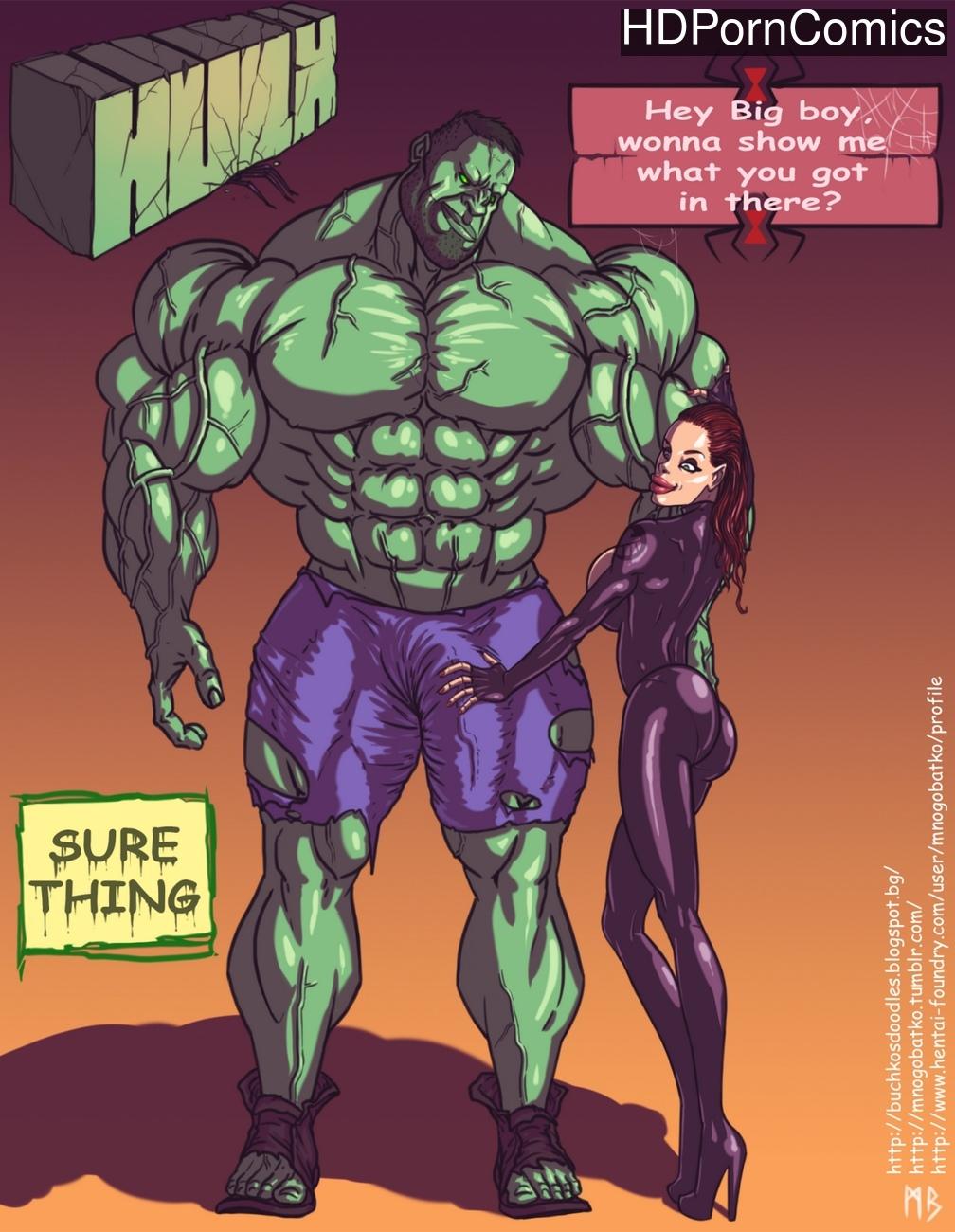 Hulk VS Black Widow comic porn