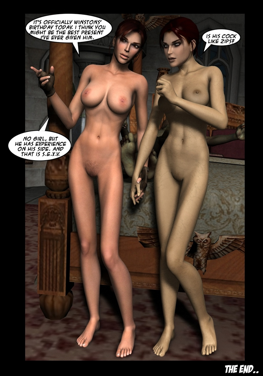 Lara Croft And Doppelganger comic porn