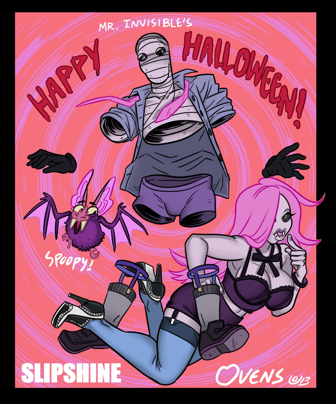 Mr Invisible & The Halloween Special comic porn