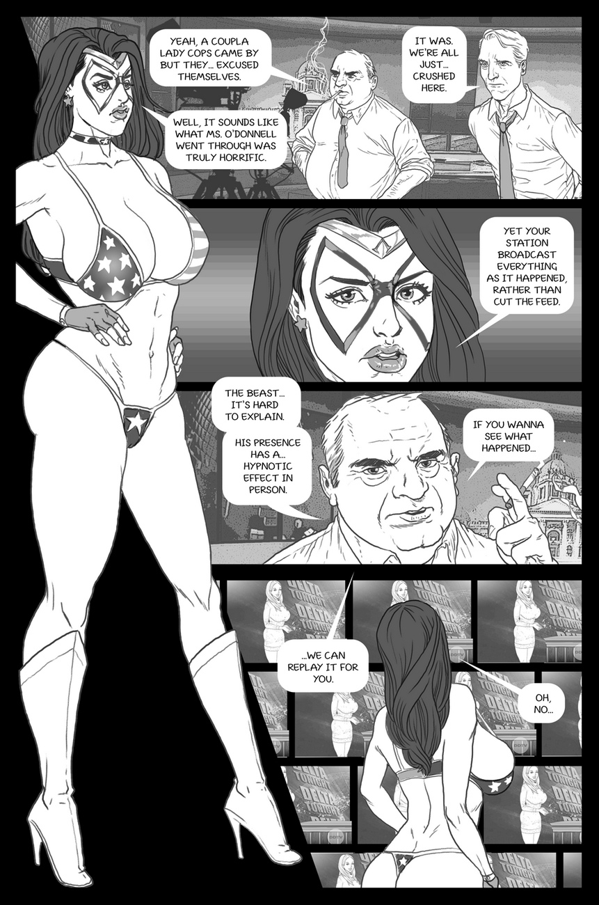 Ms-Americana-VS-The-Satyr 4 free sex comic