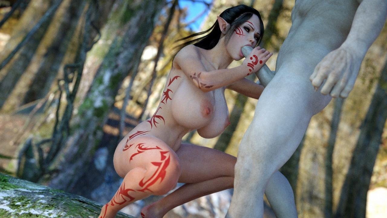 Эльфиек 3d порно картинки