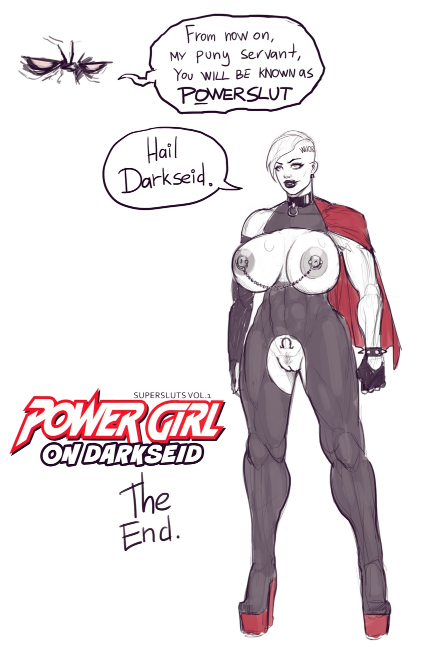 Power Girl On Darkseid comic porn