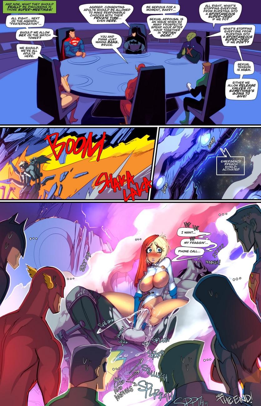 Power Girl XXX Lobo comic porn